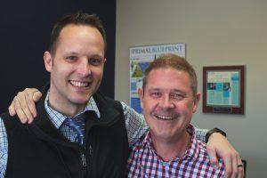 Coach Kyle Truitt and Tim Murphy